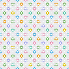 Vector Background #Flower Dot Pattern, Pastel Color