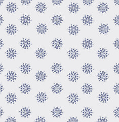 The ornament of little snowflakes