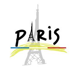 France Paris travel poster