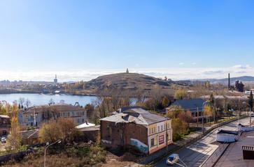Bird's-eye view on the central city Nizhny Tagil