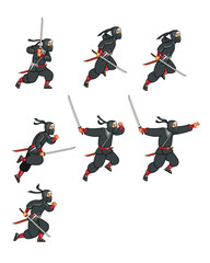 Ninja Jumping Game Sprite