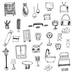 Housewares sketch vector symbol