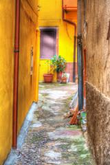 yellow backstreet in Bosa