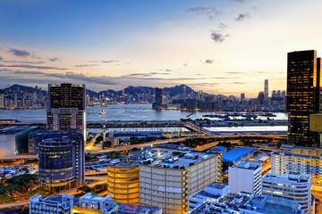 Kowloon at sunset