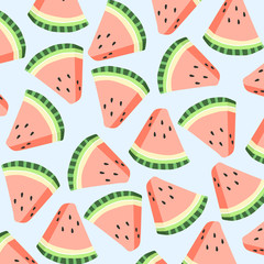 Watermelon pattern. Hand drawn