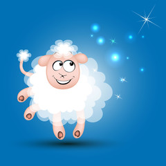 новый год овца