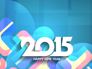 Colorful happy new year 2015 background design