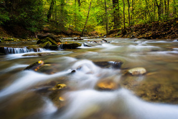 Cascades in a stream at Tucquan Glen, in Lancaster County, Penns