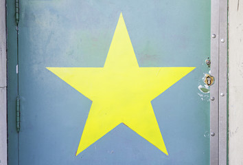 Star painted on a wall