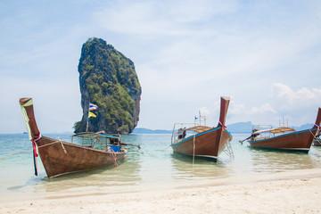 Thai boats on the beach