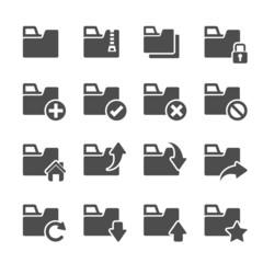 folder icon set 4, vector eps10