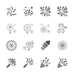 firework icon set 8, vector eps10