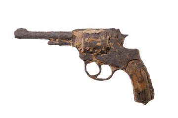 vintage revolver rusted