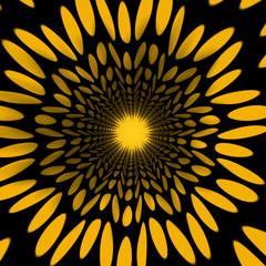 yellow kaleidoscopic design