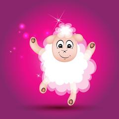 новый год, овца, танцует