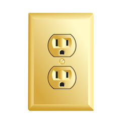 Gold American socket