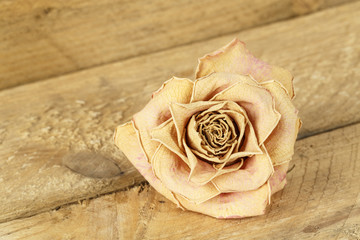 Dried flower of rose