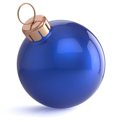 Christmas ball New Years Eve ornament decoration blue