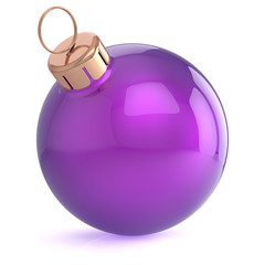 Christmas ball New Years Eve ornament decoration purple