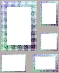 Mosaic border design set
