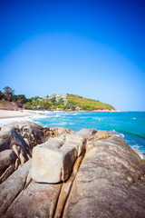 Tropical beach - vacation nature background on Koh Samui,