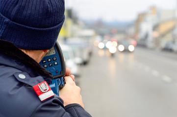Polizei Rader Laser Messung Raser