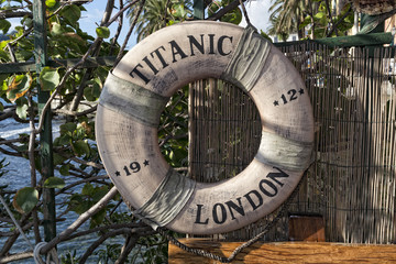 titanic ship life buoy