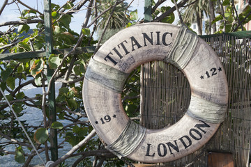 titanic ship life buoy