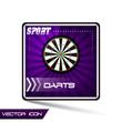 Darts sport vector icon