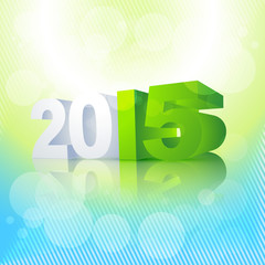 2015 written in perspective with colorful background