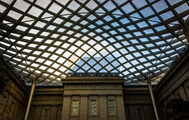 Inside the Kogod Courtyard at the National Portrait Gallery in W