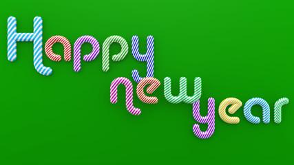 illustration Typography ; Happy New Year