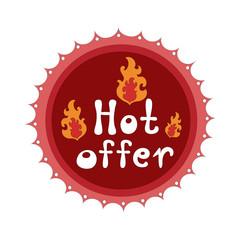 Badge Hot offer