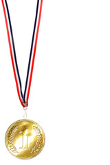 golden medal first place champion isolated winner