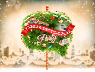 Christmas Bubble for speech - fir tree. EPS 10