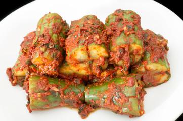 Korean cuisine, cucumber kimchi