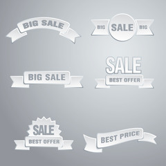 white sale tags