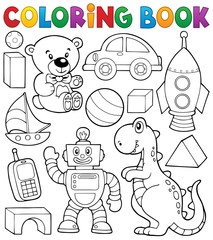 Coloring book with toys thematics 2