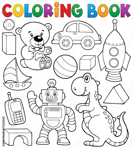 Coloring book with toys thematics 2 - 75028660