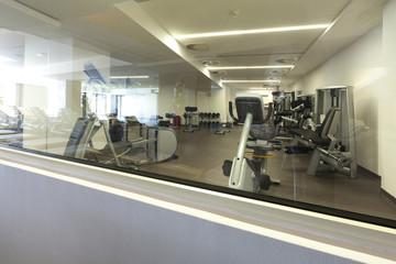 gym in hotel interior