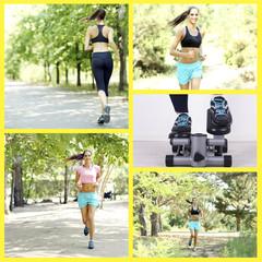 Sport collage. Running