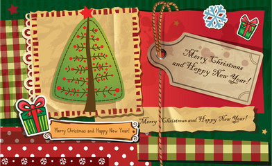 Scrapbook Christmas greeting card.