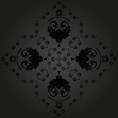 Damask Vector Pattern. Orient Background