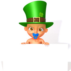 Baby Jake St. Patrick's Day with white panel