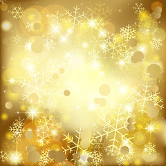 Golden Christmas Background - EPS 10