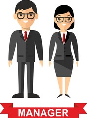 Set of vector business peoples
