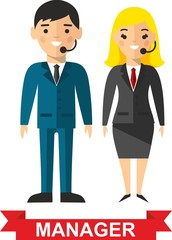 Vector illustration of a vector business peoples and woman