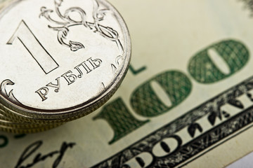 Russian ruble against the backdrop of the US dollar