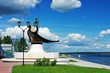 Onego - the sculpture in Petrozavodsk, Russia