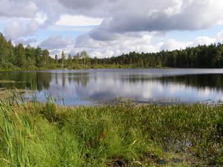 Lake in the Russian taiga